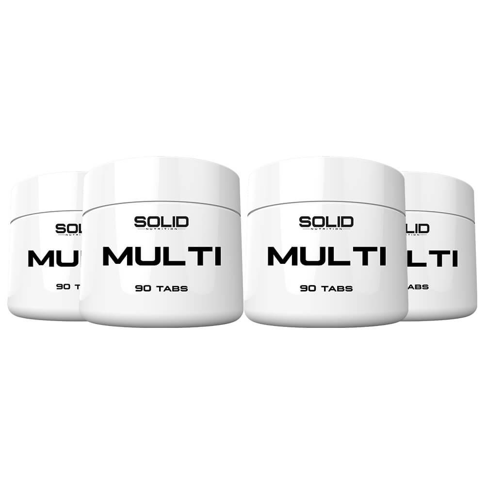 4 x SOLID Nutrition MULTI, 90 caps