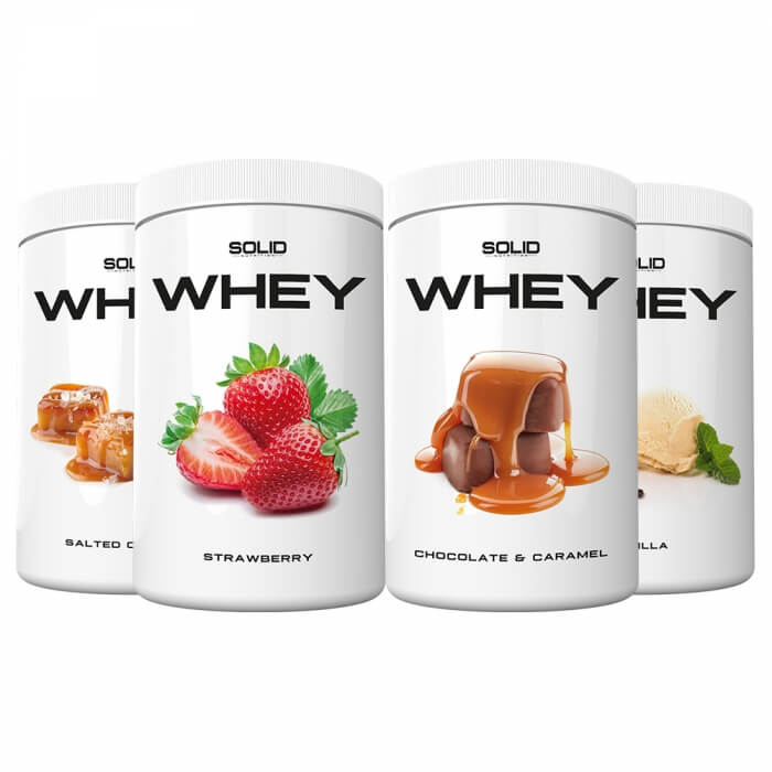 4 x SOLID Nutrition Whey, 750 g
