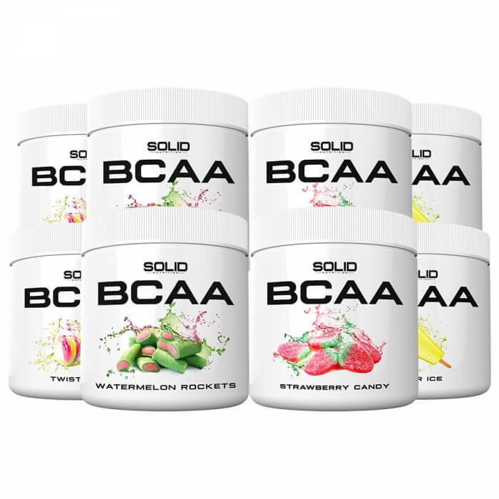 8 x SOLID Nutrition BCAA, 300 g