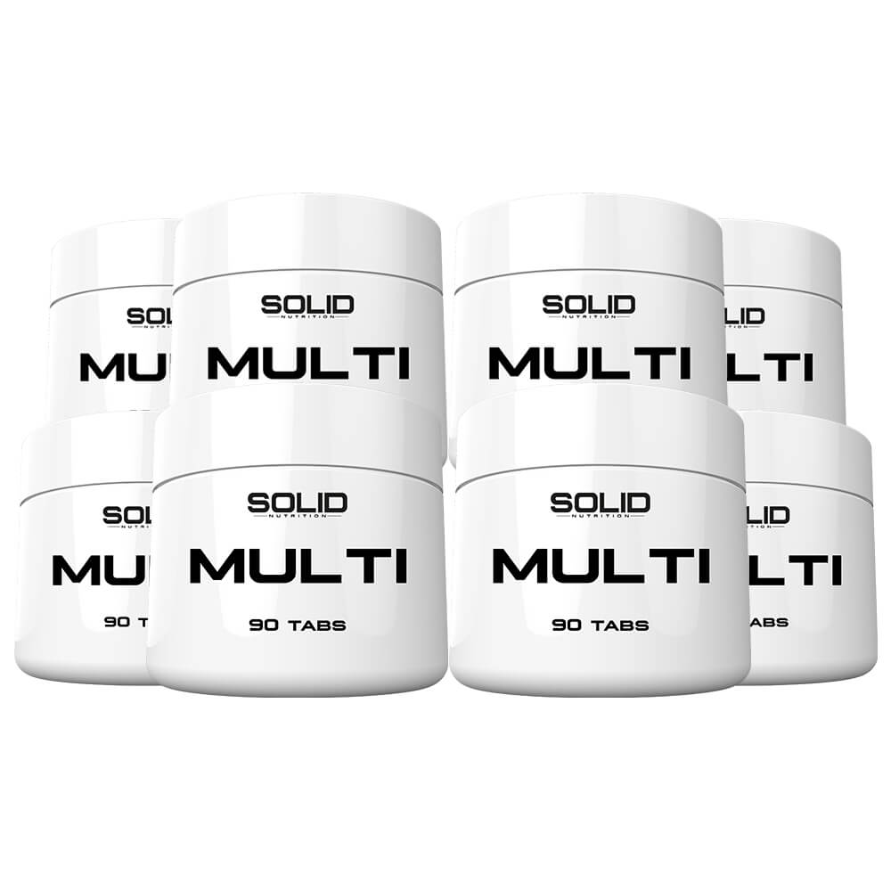 8 x SOLID Nutrition MULTI, 90 caps