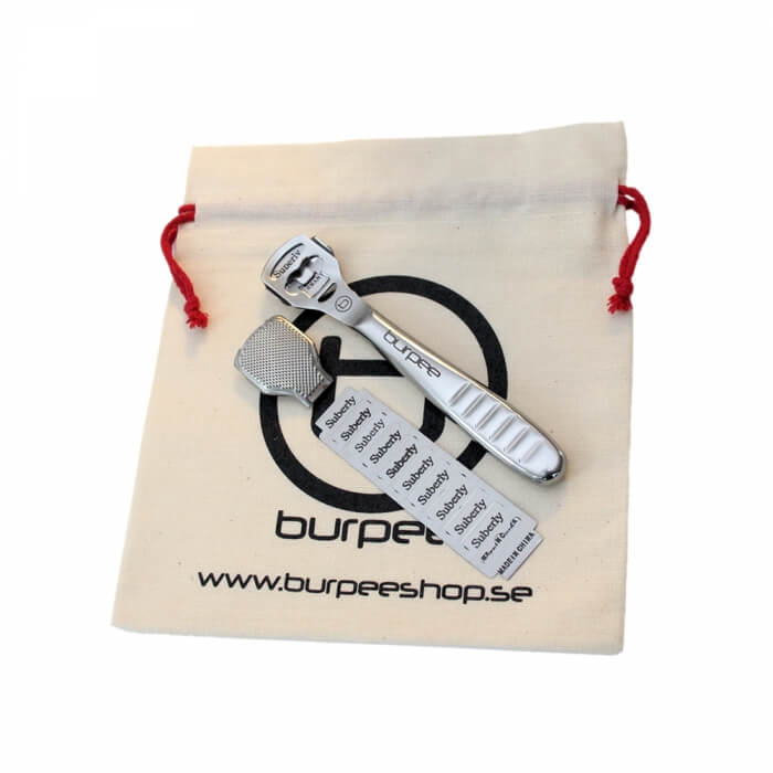 Callus Killer Kit - Shaver, File, Organic Storage bag & 10 x Spare
