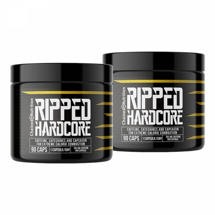 2 x Chained Nutrition Ripped Hardcore, 90 caps