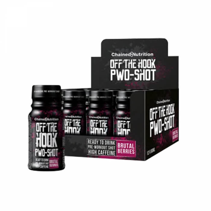 12 x Chained Nutrition Off The Hook PWO-Shot, 60 ml