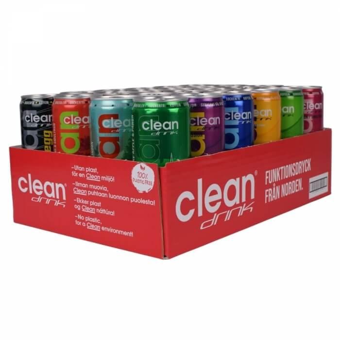 24 x Clean Drink Mixflak, 330 ml