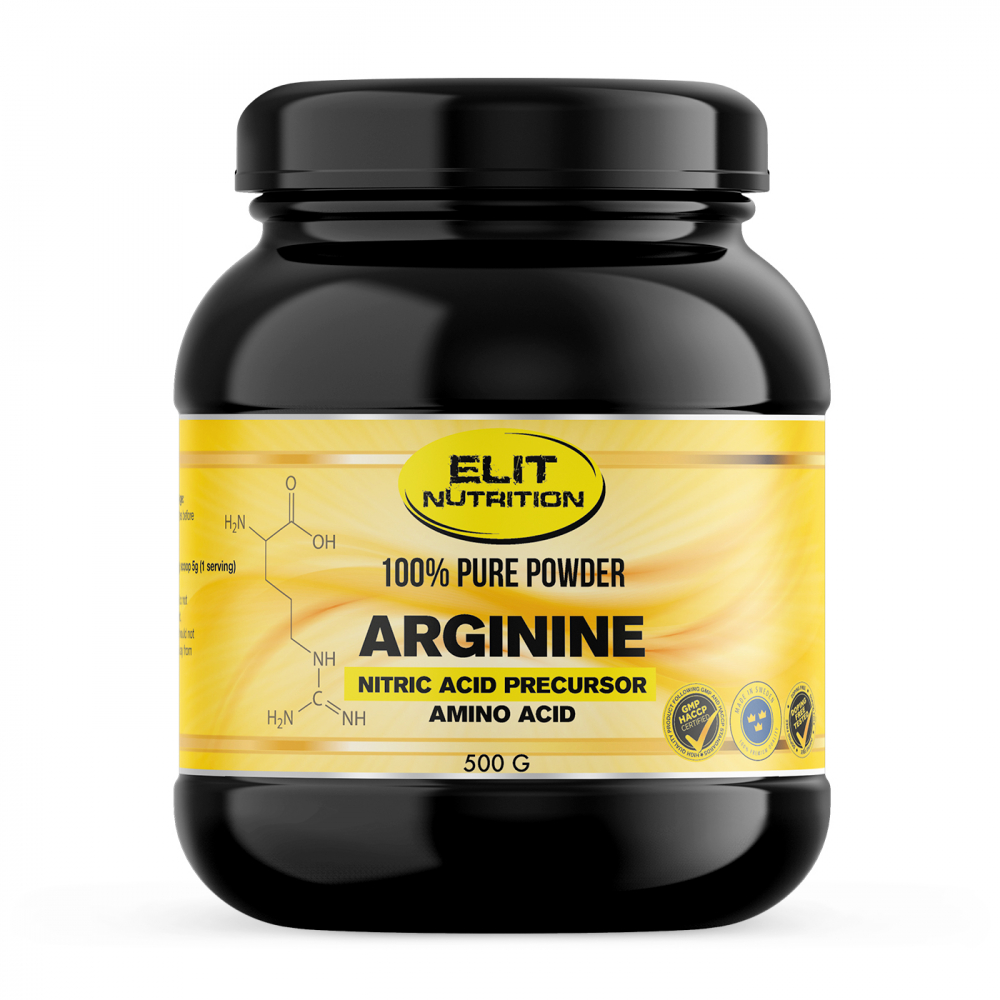 Elit Nutrition 100% Pure Arginine, 500 g