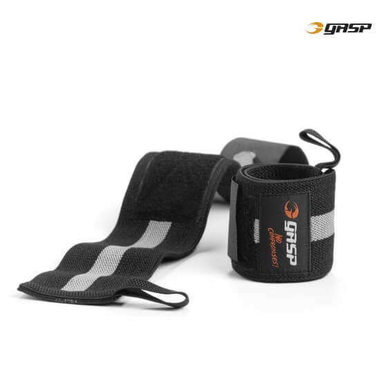 GASP 1RM Wrist Wraps, black/grey