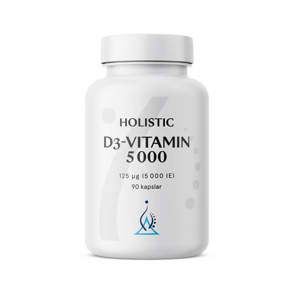 Holistic D3-vitamin 5000 IE, 90 caps