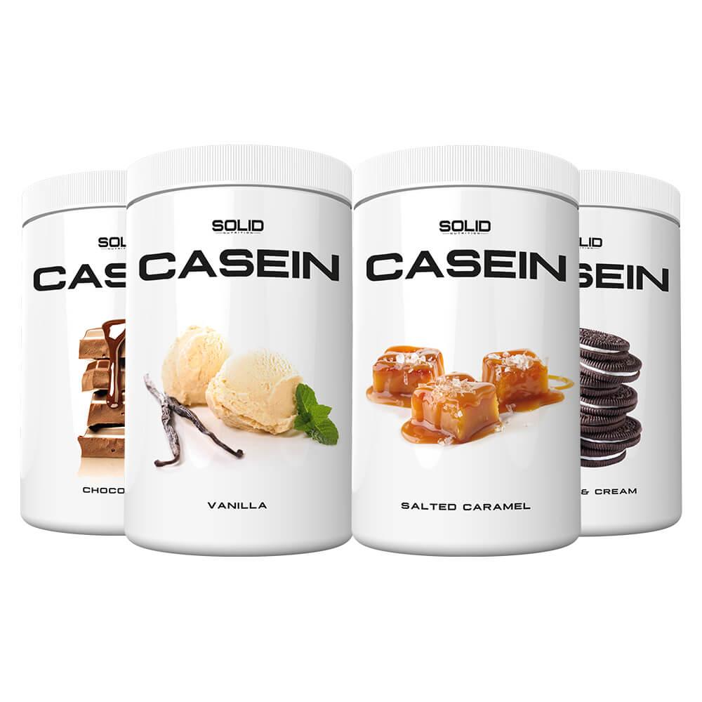 4 x SOLID Nutrition Casein, 750 g