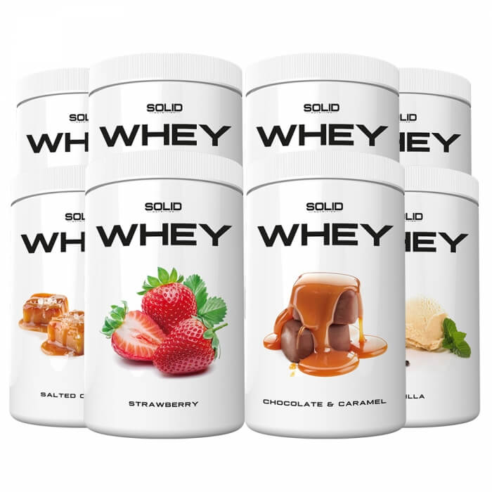 8 x SOLID Nutrition Whey, 750 g