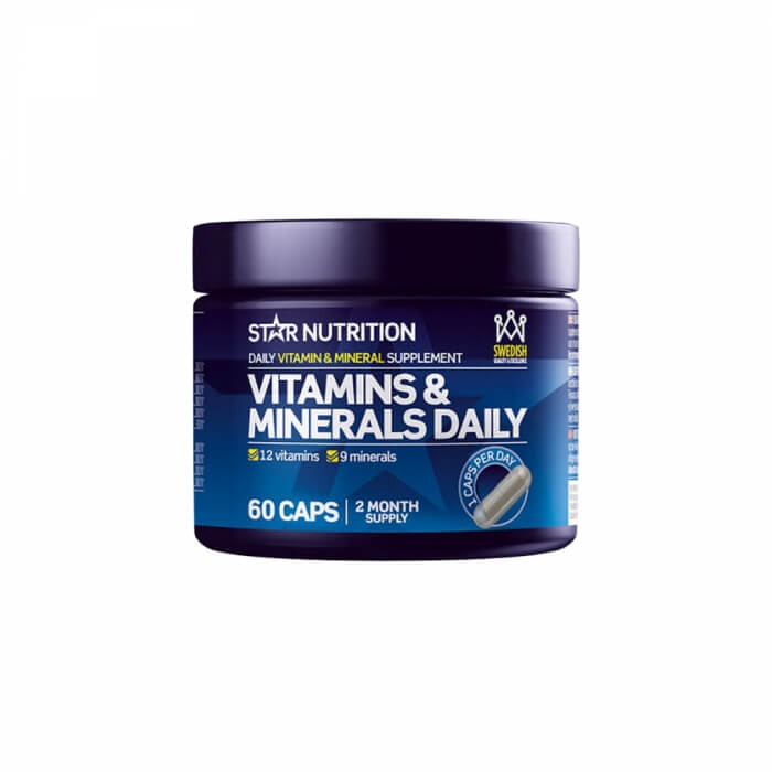 Star Nutrition Vitamins & Minerals Daily, 60 caps