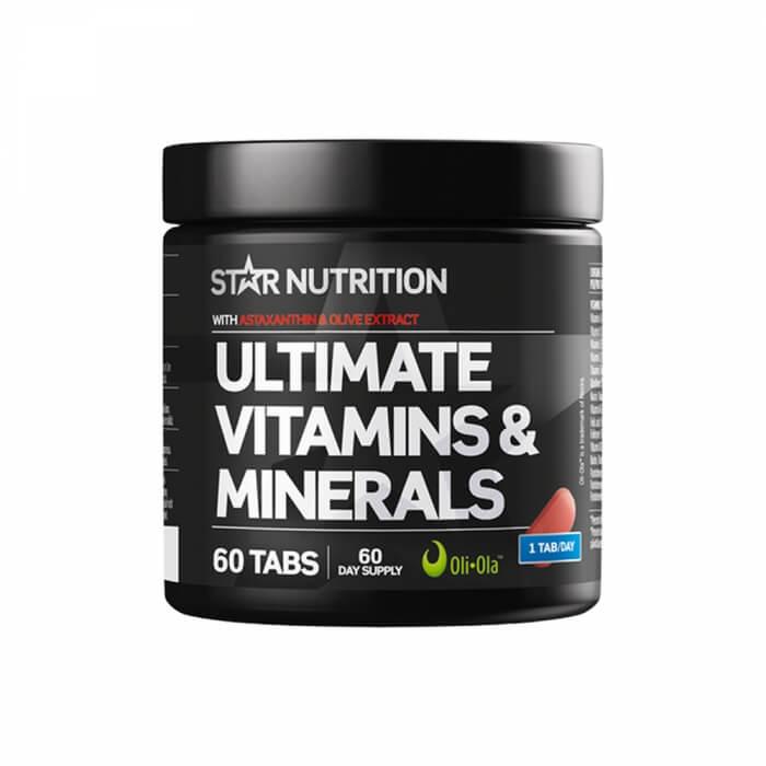 Star Nutrition Ultimate Vitamins & Minerals, 60 tabs