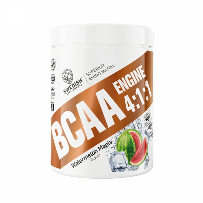 Swedish Supplements BCAA Engine 4:1:1 i gruppen Kosttillskott / Aminosyror / BCAA hos Tillskottsbolaget (SWEDISH6352)