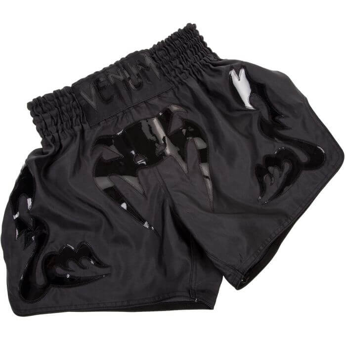Venum Bangkok Inferno Muay Thai Shorts, matte/black