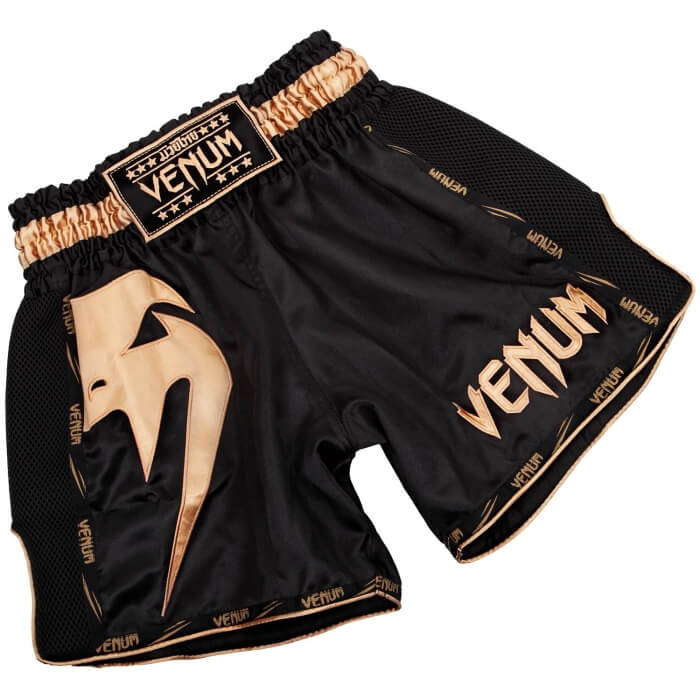 Venum Giant Muay Thai Shorts, black/gold